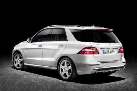 Mercedes-Benz ML W166: вид сзади
