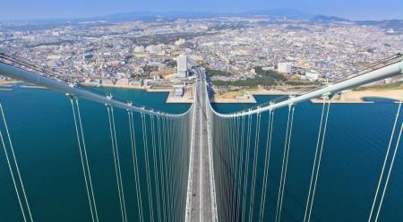 Мост Акаси-Кайкё (Перламутровый мост), Япония
