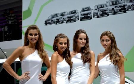 модели, представлюящие Skoda на автосалоне во Франкфурте 2013