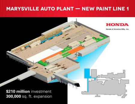Honda улучшит качество окраски машин за 210 млн долларов