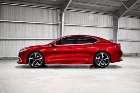 Acura TLX концепт-кар: вид сбоку