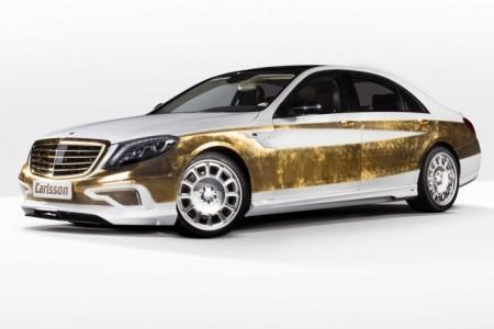 Mercedes S-Class W222 от Carlsson: покрытый золотом