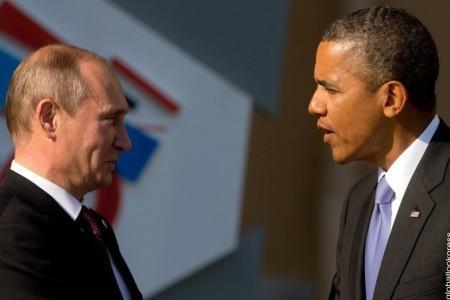 Автомобили Путина и Обамы