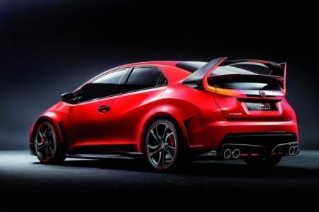 Honda Civic Type R вид сзади