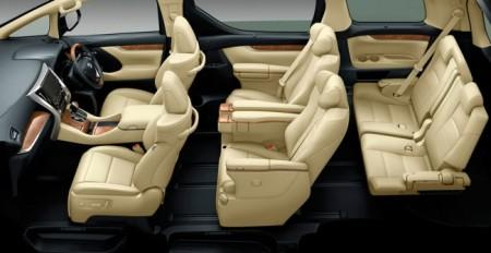 Toyota Alphard 3 интерьер