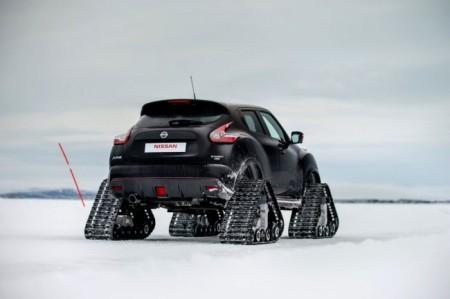 Nissan Juke Nismo RS на гусеницах