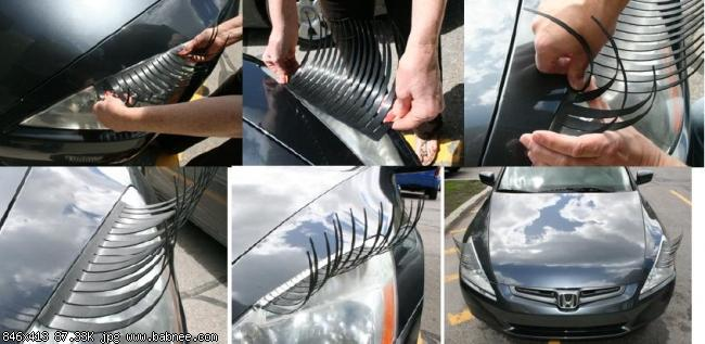 Своими руками реснички для авто