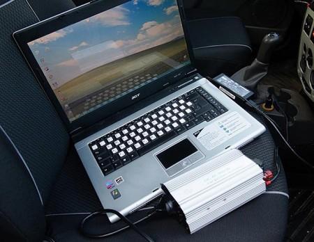 зарядка ноутбука от салонного авто инвертора