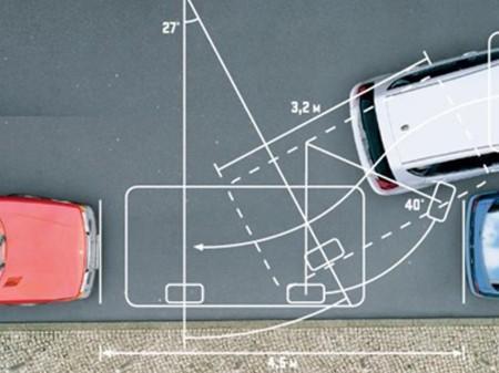 правильная траектория движения при параллельной парковке