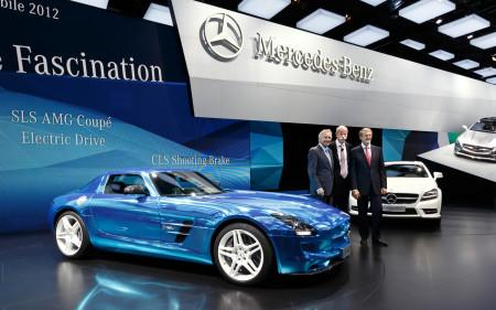 презентация Mercedes SLS AMG Electric Drive