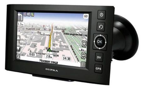 навигатор SUPRA SNP-439VR с видеорегистратором