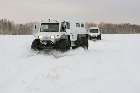 вездеходы ПЕТРОВИЧ на снегу