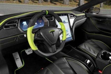 тюнинг салона Mansory для Tesla Model S